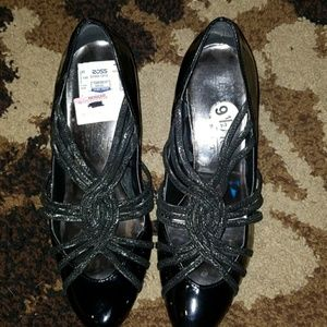 Shoes - Black Patent Leather Heels